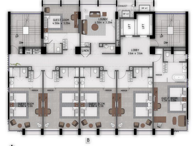 9th-12th Floor Plan